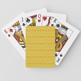 funky retro bold on mustard playing cards