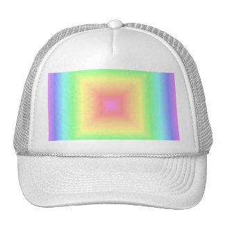 Funky Retro Bright Pastel Rainbow Geometric Blur Trucker Hats