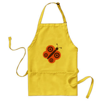 Funky Retro Cartoon Butterfly Adult Apron