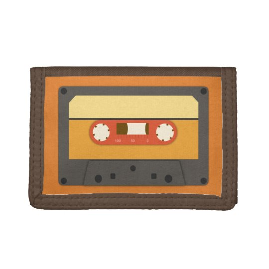 Funky retro cassette tape wallet