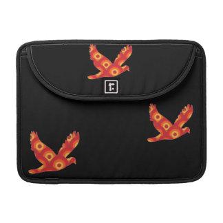 Funky Retro Circles Eagle Macbook Sleeve Sleeve For MacBooks