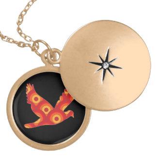 Funky Retro Circles Eagle Necklaces