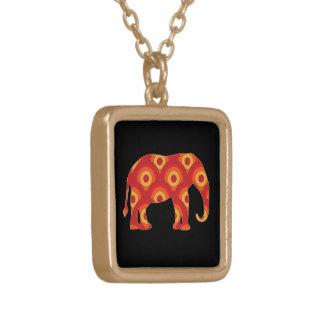 Funky Retro Circles Elephant Jewelry