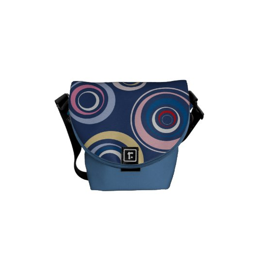 Funky Retro Circles Messenger Bag