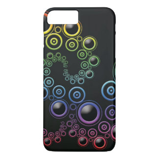 Funky Retro Circles Pattern in Rainbow Colors iPhone 8 Plus/7 Plus Case