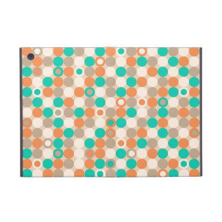 Funky Retro Circles Polka Dots Pattern Cover For iPad Mini
