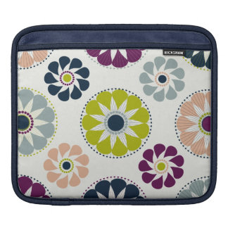 Funky Retro Flowers Sleeves For iPads