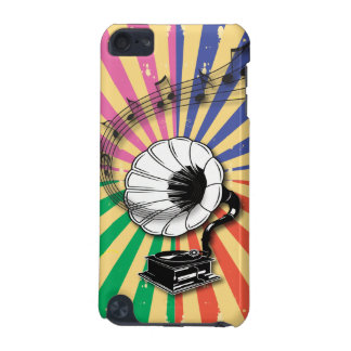 Funky Retro Gramophone and musical notes iPod Touch 5G Cases