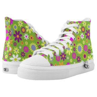 Funky Retro High-top Sneakers