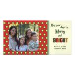 Funky Retro Holiday Polka Dots Photo Card Template