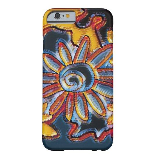 Funky retro multicolor flower iPhone case