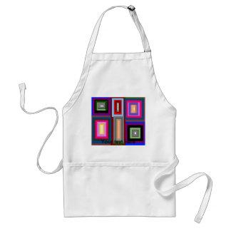 Funky retro multicolored transparent squares adult apron