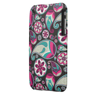 Funky Retro Paisley Pattern iPhone 3 Case