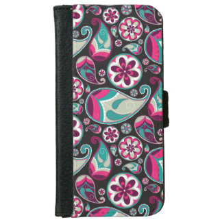 Funky Retro Paisley Pattern iPhone 6 Wallet Case