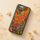 Funky Retro Pattern Abstract Bohemian Carved Cherry iPhone 6 Bumper Case