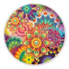 Funky Retro Pattern Abstract Bohemian Ceramic Knob