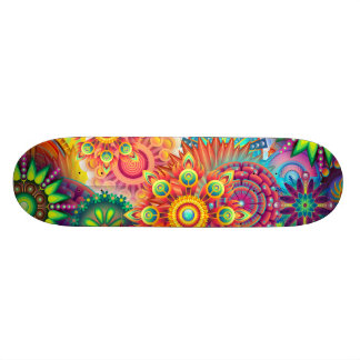 Funky Retro Pattern Abstract Boho 21.3 Cm Mini Skateboard Deck