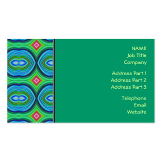 Funky Retro Pattern. Blue, Green, Pink and Multi. Business Card Templates