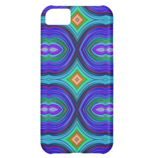 Funky Retro Pattern. Purple, Turquoise and Multi. iPhone 5C Case
