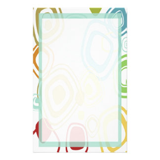 Funky Retro Pattern Stationery