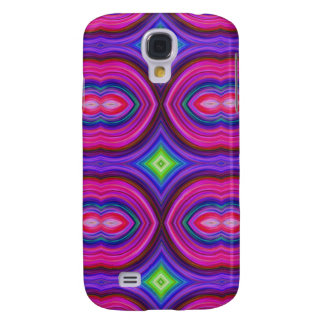 Funky Retro Pern. Pink, Purple and Multicolor. Galaxy S4 Case
