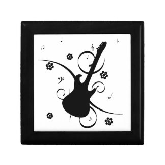 Funky retro pop rock guitar fun cufflinks box
