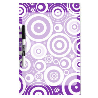 Funky Retro Purple Circles Dry Erase Board