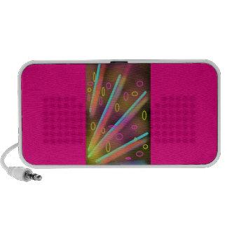 funky retro rainbow speakers