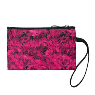 Funky Retro Style Abstract Magenta Rose Hot Pink Change Purse