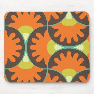 Funky Retro Swirl Mouse Pads