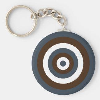 Funky retro target / circles key chain