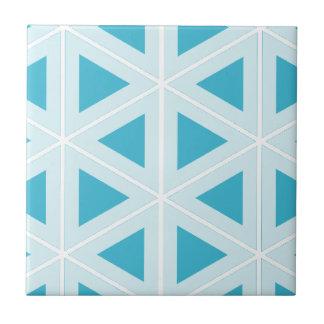funky retro triangles small square tile
