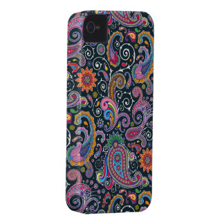 Funky Retro Vintage Paisley iPhone 4 Case