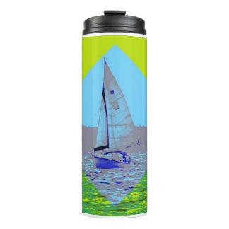 Funky Sailing Water Bottle Thermal Tumbler