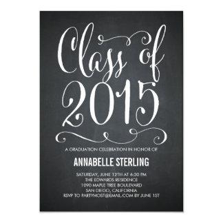 Funky Script Graduation Invitation - Chalkboard
