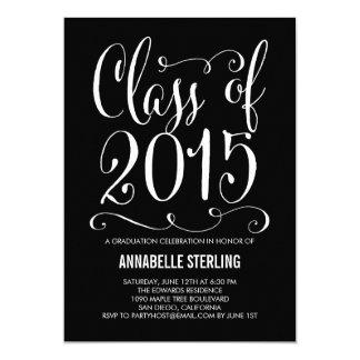 """Funky Script Graduation Invitation Editable Color 5"""" X 7"""" Invitation Card"""