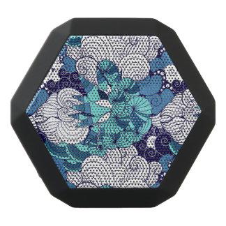 Funky Seashell Pattern Black Bluetooth Speaker