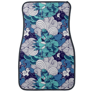 Funky Seashell Pattern Car Mat