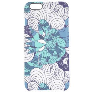Funky Seashell Pattern Clear iPhone 6 Plus Case