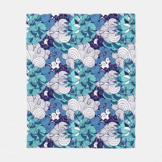 Funky Seashell Pattern Fleece Blanket