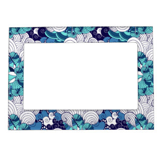 Funky Seashell Pattern Magnetic Picture Frame