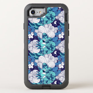 Funky Seashell Pattern OtterBox Defender iPhone 7 Case