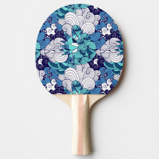 Funky Seashell Pattern Ping Pong Paddle