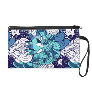 Funky Seashell Pattern Wristlet Clutches