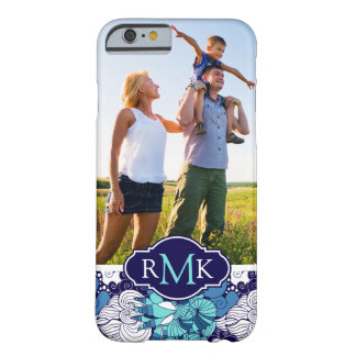 Funky Seashell Pattern| Your Photo & Monogram Barely There iPhone 6 Case