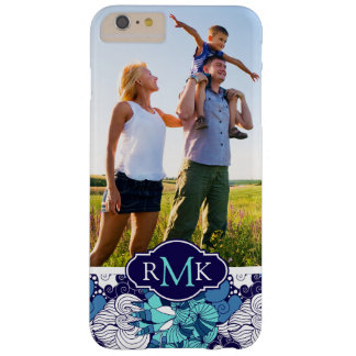 Funky Seashell Pattern| Your Photo & Monogram Barely There iPhone 6 Plus Case