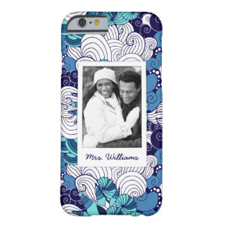 Funky Seashell Pattern | Your Photo & Name Barely There iPhone 6 Case