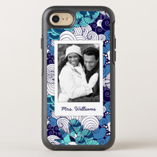 Funky Seashell Pattern | Your Photo & Name OtterBox Symmetry iPhone 8/7 Case