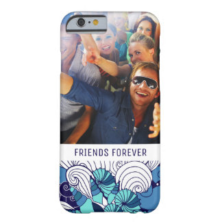 Funky Seashell Pattern | Your Photo & Text Barely There iPhone 6 Case