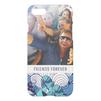 Funky Seashell Pattern   Your Photo & Text iPhone 8/7 Case